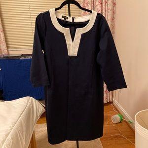 Navy ponte Talbots dress size 12